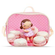 Le coin des créateurs - Lunch bag Mademoiselle macarons - Lunch Bags - Missbonbon