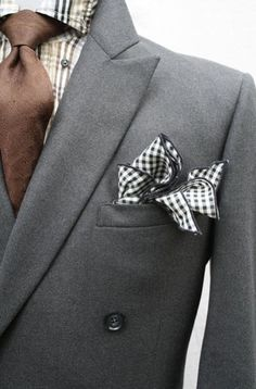 Looking for a plaid handkerchief for your wedding tux? Don't empty your pockets! Fill them with on-budget