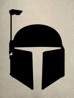 Silhouette Style Boba Fett Helmet Iron On by EverythingSilhouette, $1.50