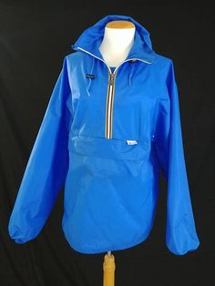 aec614789547 Vintage 1980 s 90 s K-Way Pack-Able Water Proof Jacket  Retro Hip Hop  Street Wear