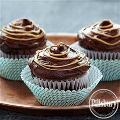 Fudgy Peanut Butter Cupcakes from Pillsbury® Baking