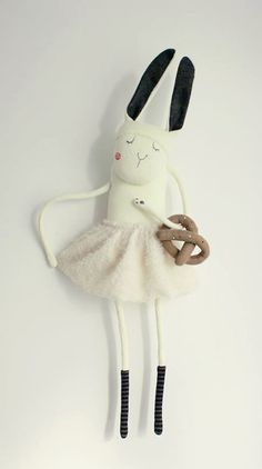Skrip Skrap bunny doll with pretzel