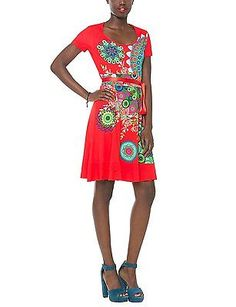 Size 14 (Manufacturer Size:Large), Red (Poppy Coral), Desigual Women's Regina Gu