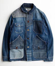 FDMTL(ファンダメンタル)のFDMTL PATCHWORK COVERALL 2YR WASH(カバーオール)|インディゴブルー Raw Denim, Amo Jeans, Style Masculin, Denim Jacket Men, Denim Patchwork, How To Pose, Vintage Denim, Denim Fashion, Work Wear