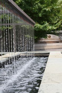 rain curtain water feature - Google Search