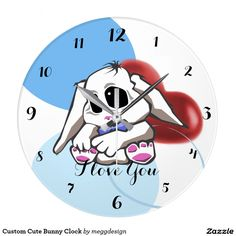 Custom Cute Bunny Clock