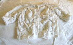 White Unisex Newborn Sweater 06 months by BaubleandBain on Etsy, $19.00