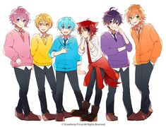 The red one must be sub and I like this .the ship the pink one is precious I'm stilll new this one Anime Chibi, Anime Art, Anime Best Friends, Vocaloid, Character Design, Kawaii, My Favorite Things, Fictional Characters, Strawberry