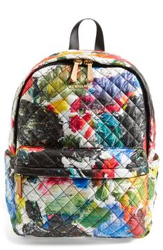 This colorful backpack is the perfect accessory for warm weather adventures.