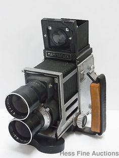 Vintage Mamiyaflex Seikosha MS Double Lens 1:4.5 1950s Camera