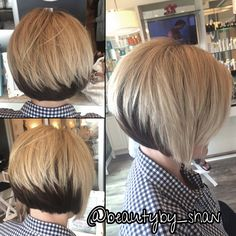 Bob haircut. Stack in the back. Short hair. Block color.  www.airdrybar.com https://www.facebook.com/ShanAinsworth