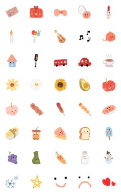 Cute Small Drawings, Mini Drawings, Kawaii Drawings, Doodle Drawings, Easy Drawings, Doodle Art, Kawaii Doodles, Cute Doodles, Emoji Stickers