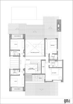 Imagen 14 de 16 de la galería de Casa CKN / Giugliani Montero Arquitectos. Planta 2