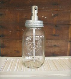 Mason Jar Glass Soap Dispenser