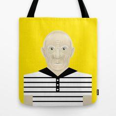 Pablo Picasso Tote Bag by Matteo Lotti - $22.00