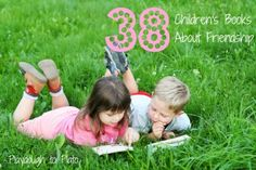 38 children's books about friendship. Help kids learn how to make friends, work through conflict, etc.