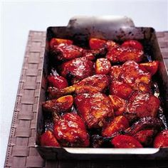 Sticky honey, tomato and mustard chicken recipe. This dish is swiftly gobbled up.