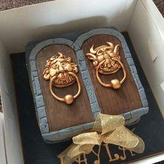 Labyrinth Door Knocker Cake