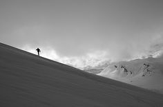 Lonely skier | A lonely skier clims a hill in a beautiful wi… | Flickr