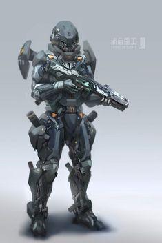 All that is Robot Futuristic Armour, Futuristic Art, Suit Of Armor, Body Armor, Armor Concept, Concept Art, Character Concept, Character Art, Arte Ninja