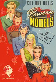 Vintage Powers Models paper dolls, 1942.