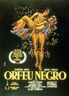 lack Orpheus (Portuguese: Orfeu Negro) is a 1959 film made in Brazil by French director Marcel Camus. It is based on the play Orfeu da Conceição (pt) by Vinicius de Moraes, which is an adaptation of the Greek legend of Orpheus and Eurydice, set in the modern context of a favela in Rio de Janeiro during Carnaval.