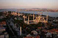 The spiky skyline of Istanbul.