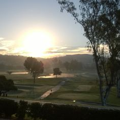 Sunrise over the golf course.