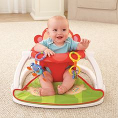 FisherPrice Deluxe SitMeUp Floor Seat * Be sure to check out this awesome product. (This is an affiliate link)