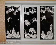 cele okno vánoce