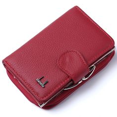 2017 Women Wallet Genuine Leather,High Quality Zipper and Hasp Coin Purse 100% Cowhide Female Purses