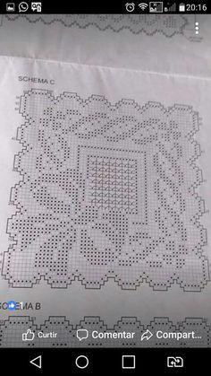 Crochet Doily Diagram, Filet Crochet Charts, Crochet Doilies, Crochet Curtains, Grill Design, Crochet Art, Cross Stitch Flowers, Dandy, Diy And Crafts