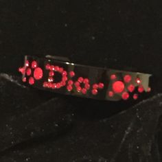 """Selling this """"Dior black lucite bracelet w/RARE RED crystals❤️"""" in my Poshmark closet! My username is: gnrstreasures. #shopmycloset #poshmark #fashion #shopping #style #forsale #Dior #Accessories"""
