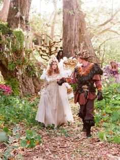 Mock-wedding ala Midsummer Night's Dream on frogprincepaperie.com