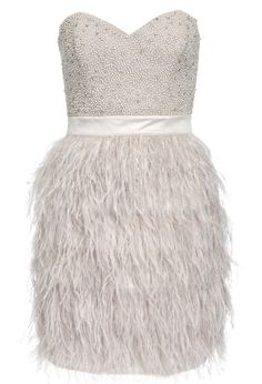 Feather dress great gatsby party