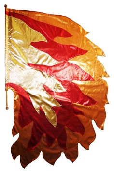 Fire of God Half Circle Flag. Custom made Praise and Worship banners and flags