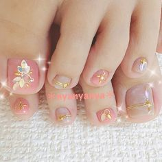 Fancy Nails Designs, Manicure Nail Designs, Nail Art Designs Videos, Pedicure Nail Art, Pedicure Designs, Toe Nail Designs, Pretty Pedicures, Pretty Toe Nails, Cute Toe Nails