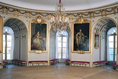 The White Room, or Gustav III's round room at Gripsholm Castle. Photo: The Royal Court/Alexis Daflos.