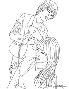 Hairstyle coloring page are free. Color this picture of Hairstyle coloring page with the colors of your choice.