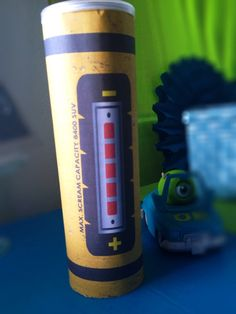 Monsters inc. inspired scream canister by MyHeartnSoulBoutique