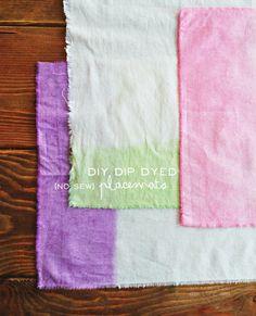 Dip Dye No Sew Placemats