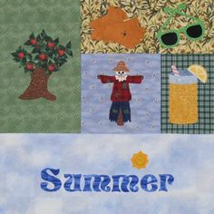 Seasonally Summer Quilt Section by victorianaquiltdesign