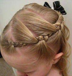 Peinado con trenzas para niña.