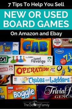 How to Sell Board Games: 7 Profit Boosting Tips - The Selling Family Work From Home Jobs, Make Money From Home, Way To Make Money, Make Money Online, Money Tips, Money Saving Tips, Sell Your Stuff, Things To Sell, How To Start A Blog Wordpress