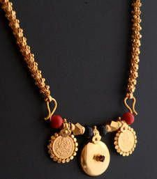 antique jewelry Buy Mangalsutra - 12 Online - This is a dashavataram chain golden mangalsutra. Turquoise Jewelry, Gold Jewelry, Beaded Jewelry, Jewelery, Gold Necklace, Silver Earrings, Earrings Uk, Dainty Jewelry, Gold Bangles