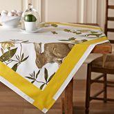 Bunny Botanical Print Table Throw