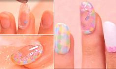 A mesmerising video has shown just how to achieve the 'aquarium' nail art trend - using glitter and oil to create a snow-globe inspires design. Acrylic Nail Art, Nail Art Diy, Diy Nails, Nails At Home, Manicure At Home, Aquarium Nails, Spirit Finger, Snow In Summer, Nail Tutorials