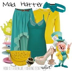 """Mad Hatter - Disney's Alice in Wonderland"" by rubytyra on Polyvore"