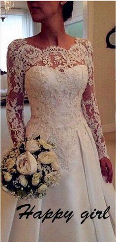 Wedding Dresses, Lace Wedding Dresses, A-Line Wedding Dresses, Backless Wedding Dresses, Applique We on Luulla