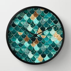 REALLY MERMAID Wall Clock by Monika Strigel - $30.00